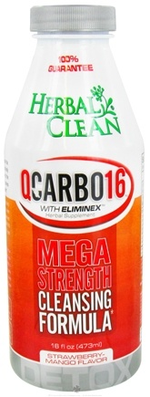 DROPPED: BNG Enterprises - Herbal Clean QCarbo16 with Eliminex Mega Strength Cleansing Formula Strawberry-Mango Flavor - 16 oz. CLEARANCE PRICED