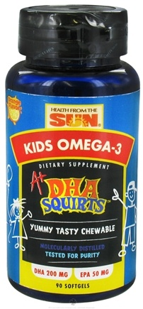 DROPPED: Health From The Sun - A+ DHA Squirts Kids Omega-3 Orange Flavor - 90 Softgels CLEARANCE PRICED