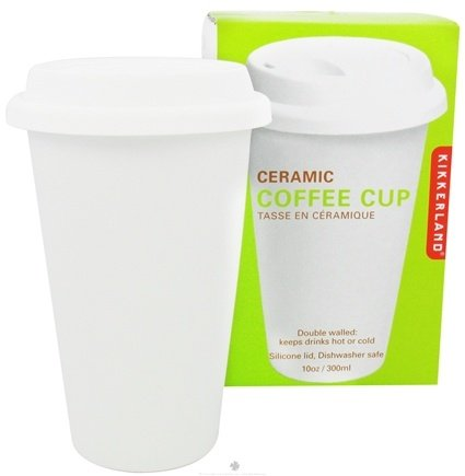 DROPPED: Kikkerland - Ceramic Coffee Cup - 10 oz.