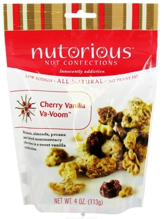 DROPPED: Nutorious - Nut Confections All Natural Cherry Vanilla Va-Voom - 4 oz.