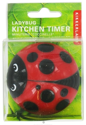 DROPPED: Kikkerland - Ladybug Kitchen Timer Red