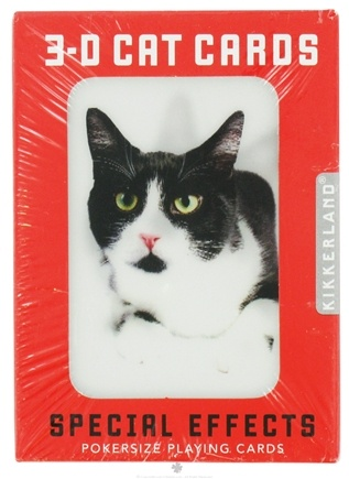 DROPPED: Kikkerland - Playing Cards Cats 3-D
