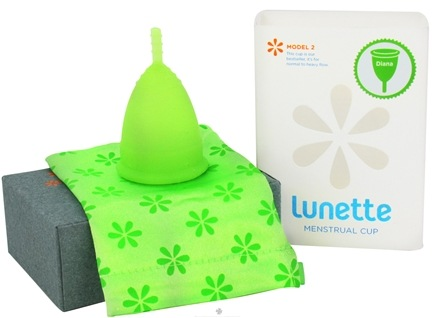 DROPPED: Lunette - Menstrual Cup Diana Model 2 For Normal To Heavy Flow Light Green - CLEARANCE PRICED