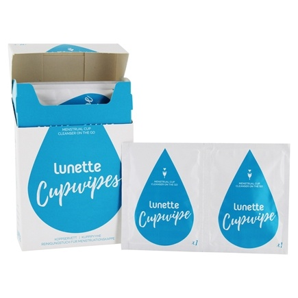 DROPPED: Lunette - Disinfecting CupWipe - 10 Wipe(s) CLEARANCE PRICED