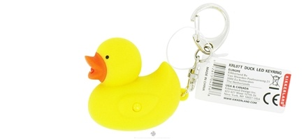 DROPPED: Kikkerland - Duck Key Chain and LED Flashlight