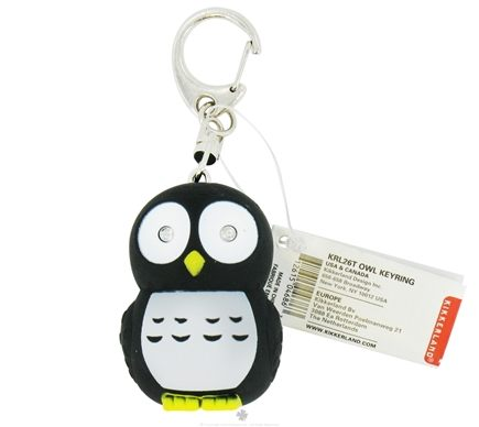 DROPPED: Kikkerland - Owl Key Chain and LED Flashlight