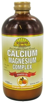 DROPPED: Dynamic Health - Calcium Magnesium Complex with Vitamin D3 Orange Creamsicle - 16 oz. CLEARANCE PRICED