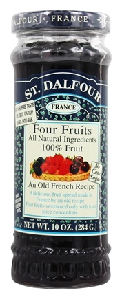 St. Dalfour - Fruit Spread 100% Natural Jam Four Fruits - 10 oz.