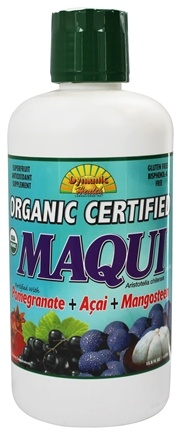 DROPPED: Dynamic Health - Organic Certified Maqui Juice Blend Pomegranate + Acia + Mangosteen - 33.8 oz.