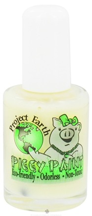 DROPPED: Piggy Paint - Nail Polish Project Earth Radioactive Clear Glow-In-The-Dark - 0.5 oz. CLEARANCE PRICED