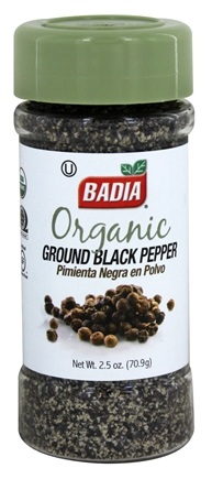 DROPPED: Badia - Organic Ground Black Pepper - 2.5 oz. CLEARANCE PRICED