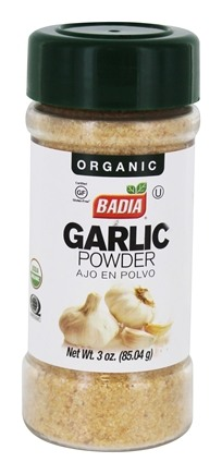 Badia - Organic Garlic Powder - 3 oz.