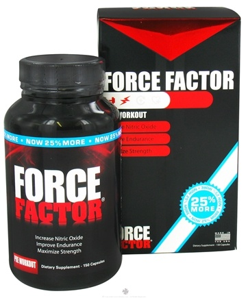 DROPPED: Force Factor - Pre Workout 25% More Free Bonus Size - 150 Capsules CLEARANCE PRICED