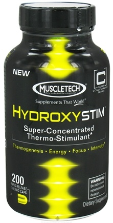 DROPPED: Muscletech Products - HydroxyStim - 200 Capsules CLEARANCE PRICED