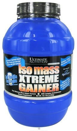 DROPPED: Ultimate Nutrition - Platinum Series Iso Mass Xtreme Gainer Soft Vanilla Ice Cream - 10.11 lbs.