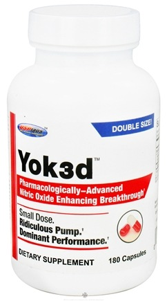 DROPPED: USP Labs - Yok3d Pharmacologically-Advanced Nitric Oxide Enhancing Breakthrough - 180 Capsules CLEARANCE