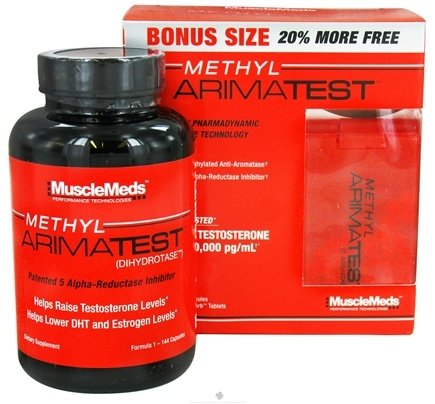 DROPPED: MuscleMeds - Methyl Arimatest Formula 1 - 144 Capsules & Formula 2 - 72 SubZorb Tablets - Bonus Size! CLEARANCE PRICED
