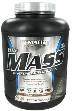 DROPPED: Dymatize Nutrition - Elite Mass Gainer Hi-Protein Muscle Gainer Fudge Brownie - 6 lbs.