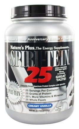 Nature's Plus - Spiru-Tein 25 High Protein Energy Meal Creamy Vanilla - 2.5 lbs.