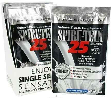 DROPPED: Nature's Plus - Spiru-Tein 25 High Protein Energy Meal - 1 Packet Creamy Vanilla - 1.6 oz. CLEARANCE PRICED
