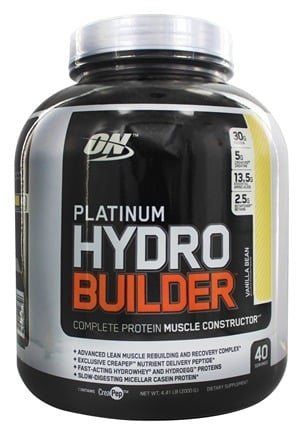 Optimum Nutrition - Platinum Hydrobuilder Vanilla Bean 40 Servings - 4.41 lbs.