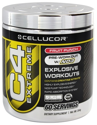 DROPPED: Cellucor - C4 Extreme Pre-Workout with NO3 Fruit Punch 60 Servings - 360 Grams
