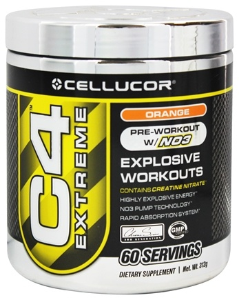 DROPPED: Cellucor - C4 Extreme Pre-Workout with NO3 Orange 60 Servings - 360 Grams