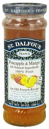 DROPPED: St. Dalfour - Fruit Spread 100% Natural Jam Pineapple & Mango - 10 oz.