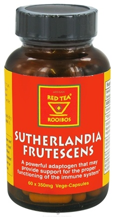 DROPPED: African Red Tea Imports - Sutherlandia Frutescens 350 mg. - 60 Vegetarian Capsules CLEARANCE PRICED