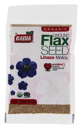 DROPPED: Badia - Organic Ground Flax Seed - 1.25 oz. CLEARANCE PRICED