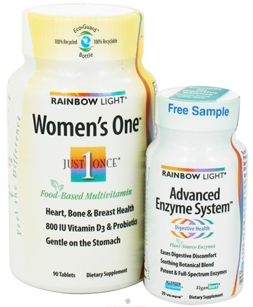 DROPPED: Rainbow Light - Women's One Just Once Multivitamin & Advanced Enzyme System Bundle Pack - 90 Tablets + 20 Vcaps