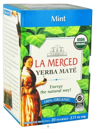 DROPPED: La Merced - Yerba Mate 100% Organic Mint - 20 Tea Bags