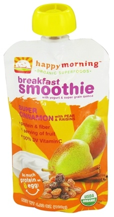 DROPPED: HappyBaby - HappyMorning Organic Superfruit + Supergrain Breakfast Smoothie Super Cinnamon - 4.22 oz. CLEARANCE PRICED