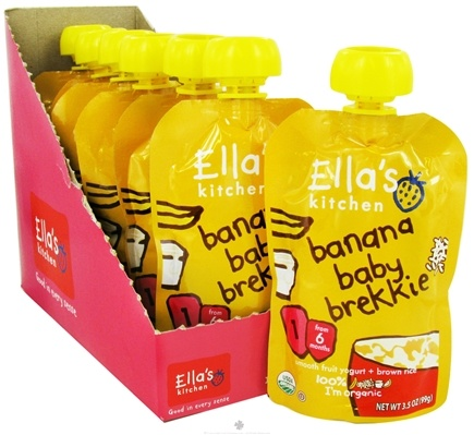 DROPPED: Ella's Kitchen - Organic Baby Brekkie Stage 1 for 6 Months & Older Banana - 3.5 oz. CLEARANCE PRICED