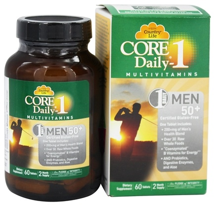 Country Life - Core Daily 1 For Men 50+ - 60 Tablets