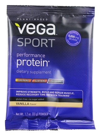 Vega - Vega Sport Natural Plant Based Performance Protein Vanilla - 1.2 oz.
