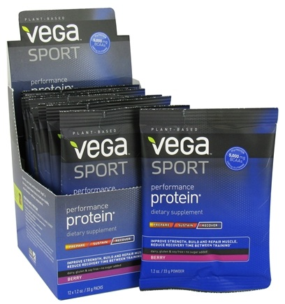 Vega - Vega Sport Natural Plant Based Performance Protein Berry - 1.2 oz.