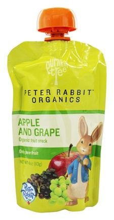 Peter Rabbit Organics - Organic Fruit Snack 100% Pure Apple and Grape - 4 oz.
