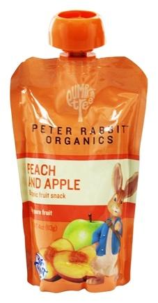 Peter Rabbit Organics - Organic Fruit Snack 100% Pure Peach and Apple - 4 oz.