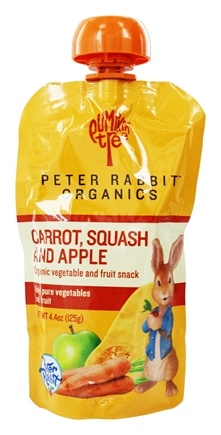 Peter Rabbit Organics - Veg and Fruit Puree 100% Carrot, Squash and Apple - 4.4 oz.