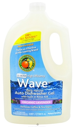 DROPPED: Earth Friendly - Wave Auto Dishwasher Gel 100% Natural 2X Ultra High Efficiency Organic Lavender - 100 oz.