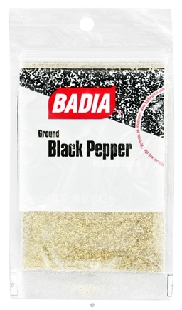 DROPPED: Badia - Ground Black Pepper - 0.5 oz. CLEARANCE PRICED