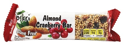 Oskri - Gluten Free Almond Bar Cranberry - 1.9 oz.
