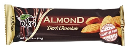 Oskri - Almond Dark Chocolate Bar Gluten-Free - 1.9 oz.