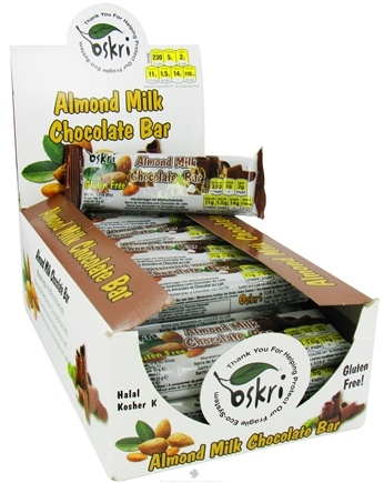DROPPED: Oskri - Almond Milk Chocolate Bar Gluten-Free - 1.9 oz. CLEARANCE PRICED
