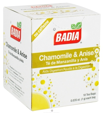 DROPPED: Badia - Chamomile & Anise Tea - 10 Tea Bags CLEARANCE PRICED