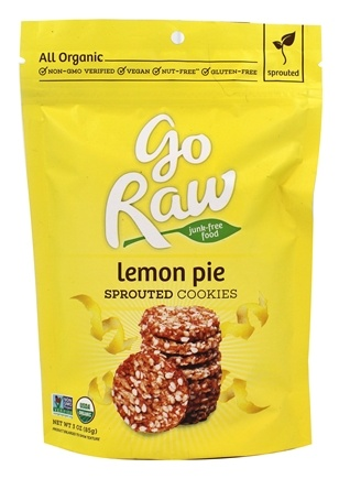 Go Raw - Sprouted Cookies Lemon Pie - 3 oz.