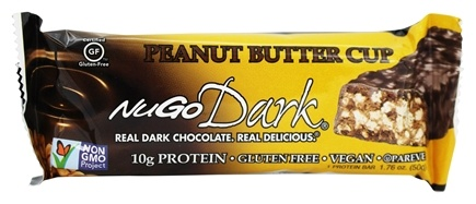 NuGo Nutrition - Dark Bar Peanut Butter Cup Flavor - 1.76 oz.