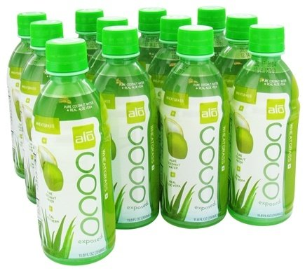 DROPPED: ALO - Coco Exposed Pure Coconut Water + Real Aloe Vera Wheatgrass - 11.8 oz.