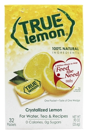 True Citrus - True Lemon Crystallized Lemon 32 x .8g Packets - 0.91 oz.
